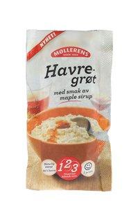 Prøv også Møllerens Havregrøt maple sirup.