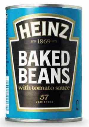 Prøv også Heinz baked beans.