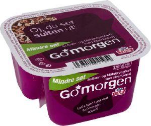Bilde av Tine Go Morgen Mindre Søt Solbær/Blåbæryoghurt med fiberkrønsj.