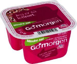Bilde av Tine Go Morgen Mindre Søt Jordbær/Kiwiyoghurt med fiberkrønsj.