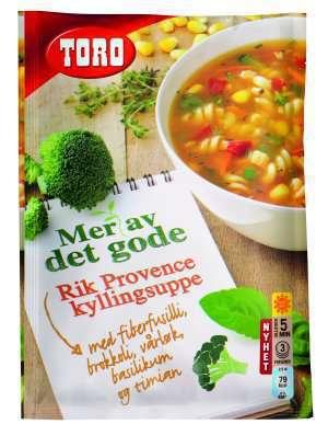 Prøv også Toro Rik Provence kyllingsuppe.