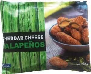 Prøv også Salud hot cheddar chees jalapenos.