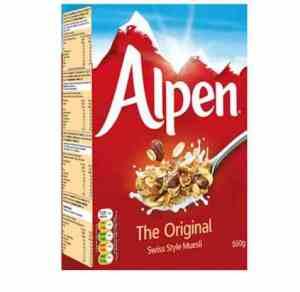 Prøv også Weetabix alpen original.
