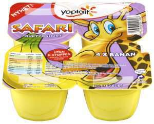 Bilde av Yoplait Safari giraffyoghurt.