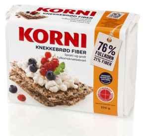 Prøv også Kavli Korni Knekkebrød fiber.