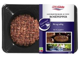 Prøv også Gilde Gourmetburger svin med rosepepper.