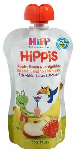 Prøv også HiPP smoothie, eple, banan og jordbær, fra 6 mnd.