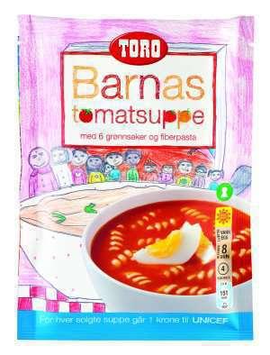 Prøv også Toro barnas tomatsuppe ferdiglagd.