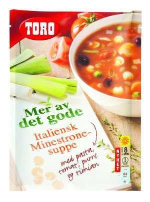 Prøv også Toro italiensk minestronesuppe med pasta tomat.