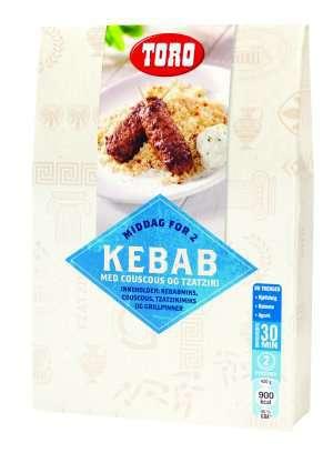 Prøv også Toro kebab med couscous og tzatziki kit.