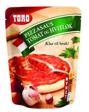 Prøv også Toro pizzasaus tomat og hvitløk.
