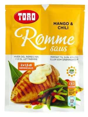 Prøv også TORO Rømmesaus med mango og chili.
