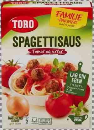 Prøv også Toro spagettisaus økonomi.