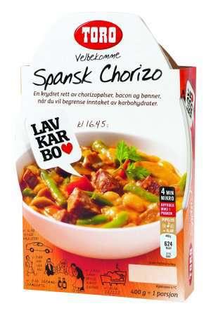 Prøv også Toro velbekomme spansk chorizo.