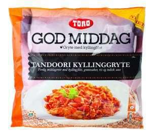 Prøv også Toro god middag tandoori kyllinggryte.
