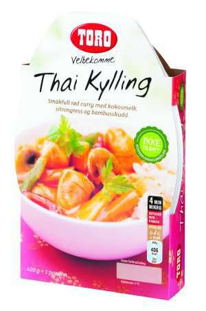 Prøv også Toro velbekomme thai kylling.