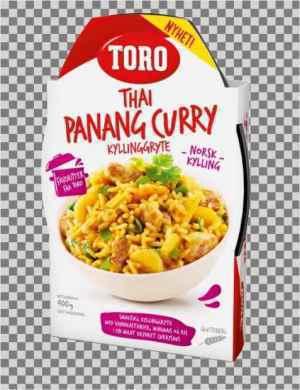 Prøv også Toro thai panang red curry ferdig.
