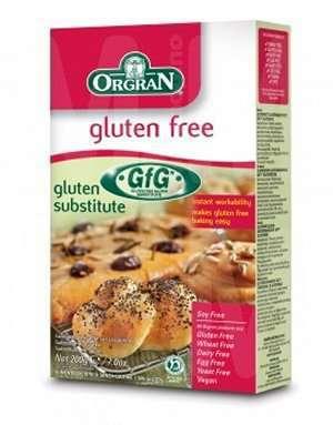 Prøv også Orgran glutensubstitutt.