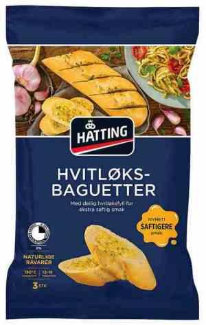 Prøv også Hatting hvitløksbaguetter.