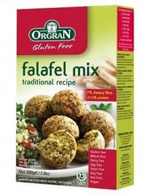 Prøv også Orgran falafel mix.