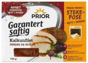 Prøv også Prior Kalkunfilet i stekepose, paprika og hvitløk.