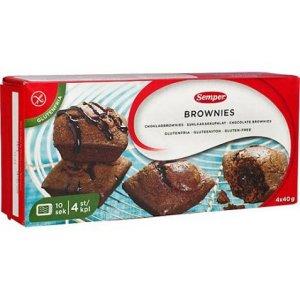Prøv også Semper Brownies med sjokoladefyll.