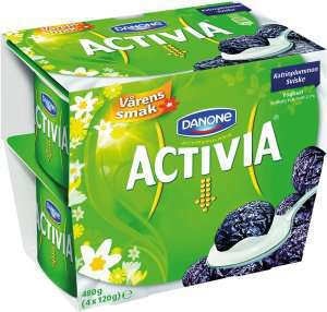 Prøv også Danone Activia yoghurt sviske.