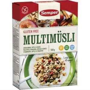 Prøv også Semper Multimüsli - Jordgubb, äpple & kanel.