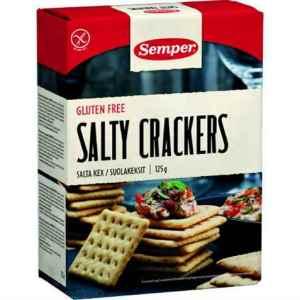 Prøv også Semper Salty Crackers spröda salta kex.