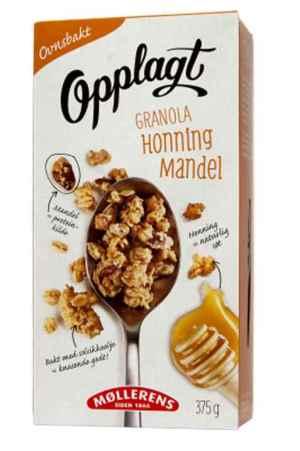 Prøv også Møllerens Opplagt Granola Honning og mandel.
