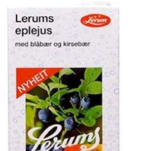 Bilde av Lerum eplejus med blåbær og kirsebær.