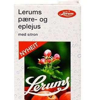 Prøv også Lerums pære- og eplejus med sitron.