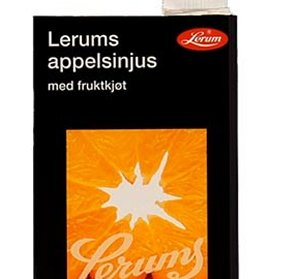 Bilde av Lerum appelsinjus med fruktkjøt.