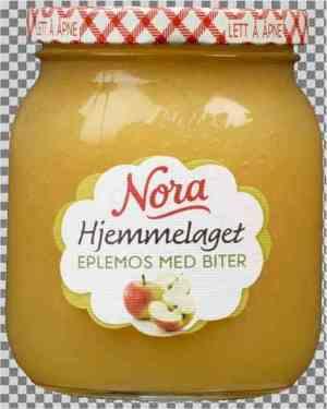 Prøv også Noras hjemmelaget eplemos med biter.