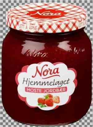 Prøv også Noras hjemmelaget moste jordbær.