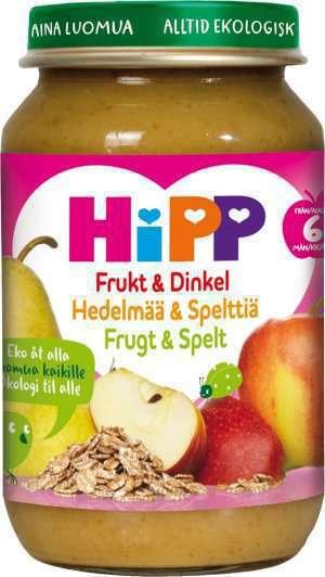 Prøv også Hipp Frukt og spelt.