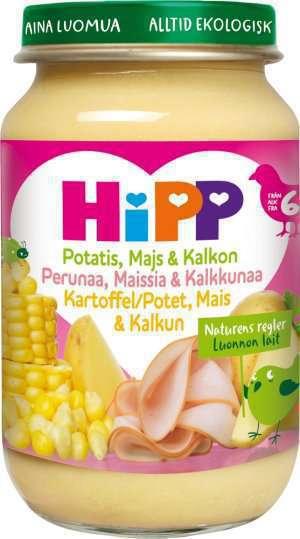 Prøv også Hipp Potet, Mais & Kalkun.