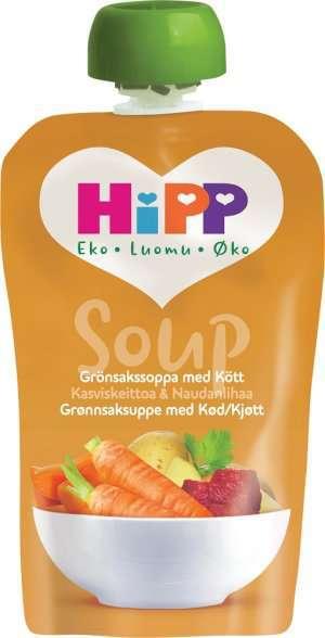 Prøv også Hipp soup grønnsaksuppe med kjøtt.