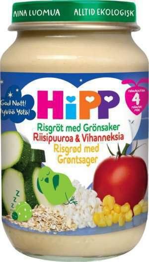 Prøv også Hipp God Natt! Risgrøt med grønnsaker.