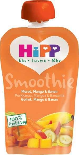 Prøv også HiPP smoothie-banan, pære og mango.