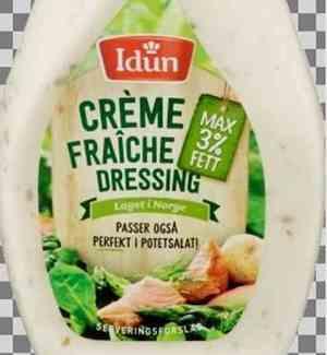 Prøv også Idun creme fraiche dressing maks 3% fett.