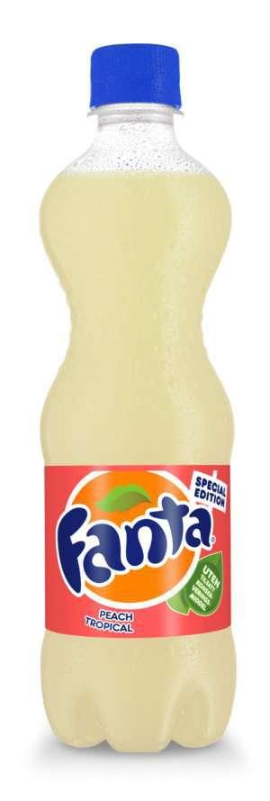 Prøv også Fanta peach tropical.