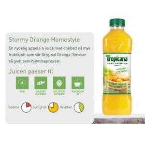 Prøv også Tropicana Stormy Orange Homestyle.