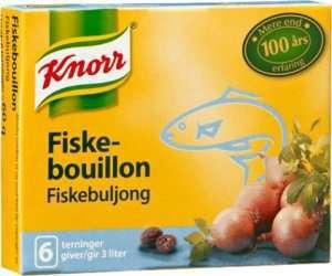 Prøv også Knorr fiskebuljong.
