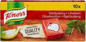 Prøv også Knorr oksekjøttbuljong.