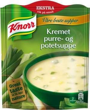 Prøv også Knorr kremet purre og potetsuppe.