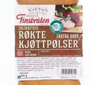 Prøv også Finsbråten røkte kjøttpølser gourmet skinnfri.