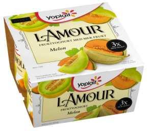 Prøv også Yoplait Lamour fruktyoghurt med melon.