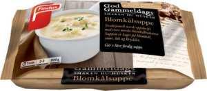Prøv også Findus God Gammeldags Blomkålsuppe.