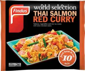 Prøv også Findus Thai Salmon Red Curry.